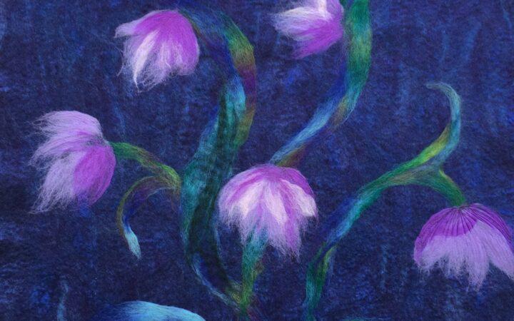 Dancing flowers  (Felt)