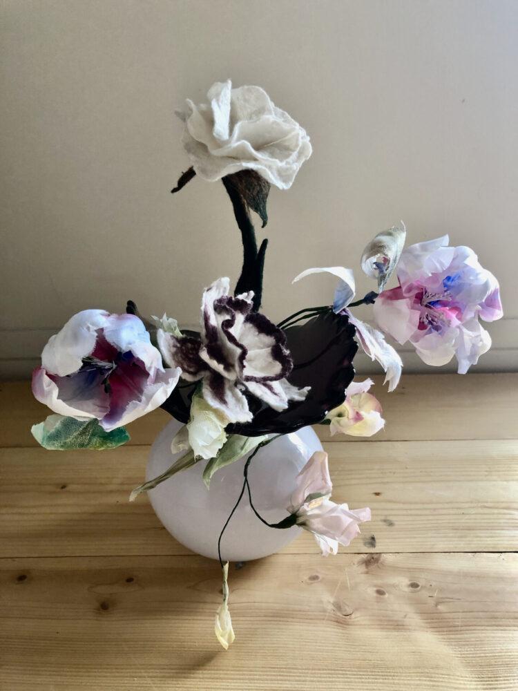Flowers 7 Felt and Silk work